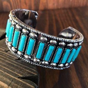 Jewelry - Silver & Turquoise Cuff Bracelet